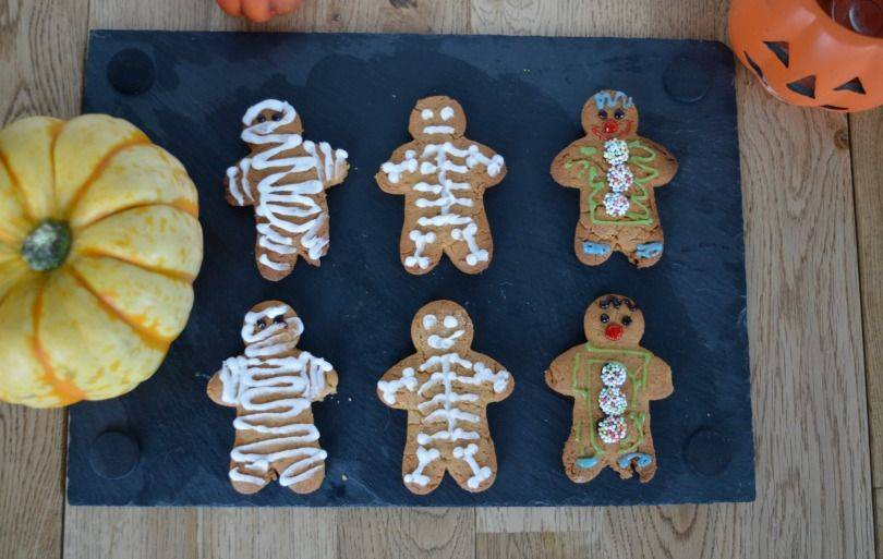 Gingerbread mummies, skeletons and clowns