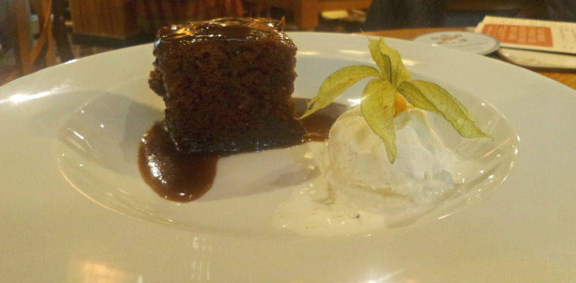 Sticky toffee pudding at Kings lodge inn