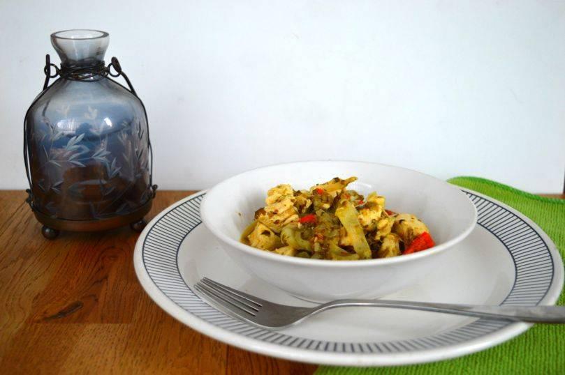 bengal green chicken masala