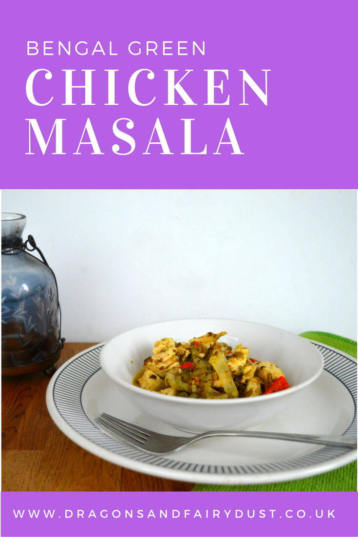 Bengal green chicken masala. A quick and easy chicken recipe that uses coriander. It is packed with flavour, perfect for a mid week meal.