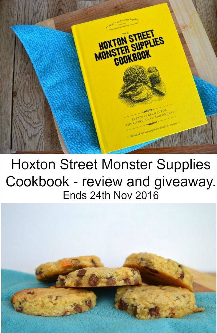 Giveaway to win one of three Hoxton Street Monster Supplies Cookbooks