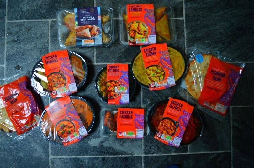 Sainsbury's curry ready meals