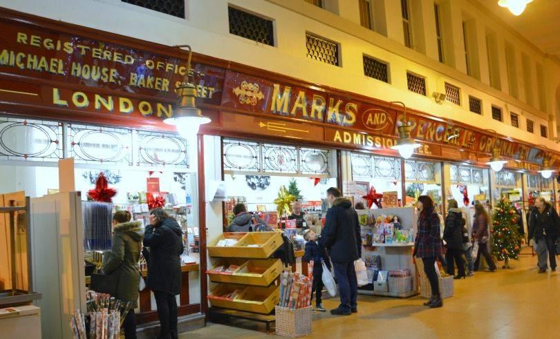 Grainger market Marks and spencer's penny bazaarr