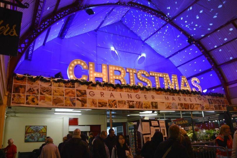 Grainger Market Christmas market night