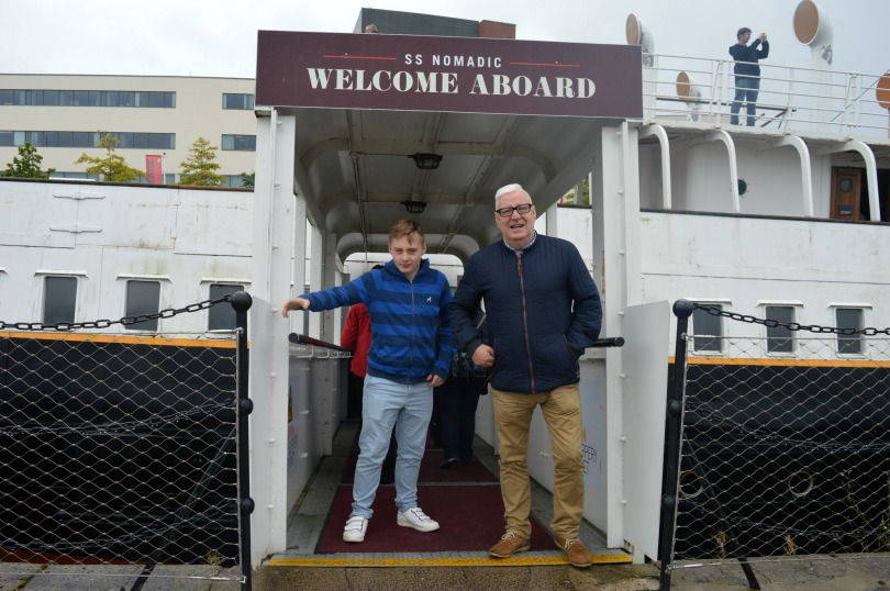 Stepping aboard the SS Nomadic in Belfast