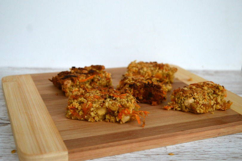 Carrot and apricot flapjacks