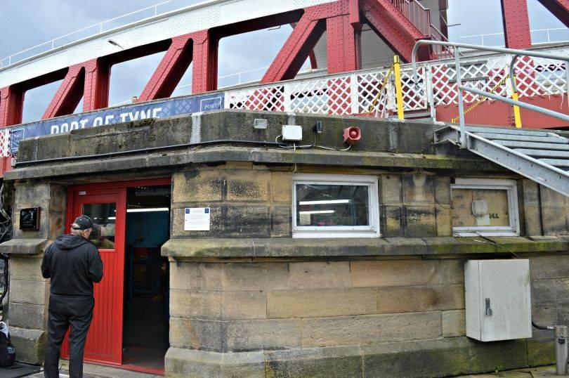 Entry into the swing bridge pump room Newcastle