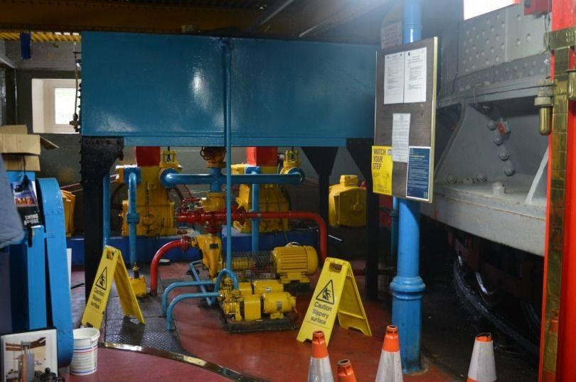 Inside the pump room of the Swing Bridge Newcastle