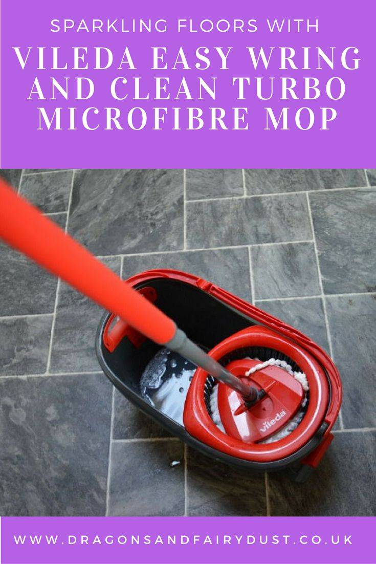 Vileda Easy Wring and Clean Turbo Microfibre Mop and Bucket Set. Makes mopping floors easy