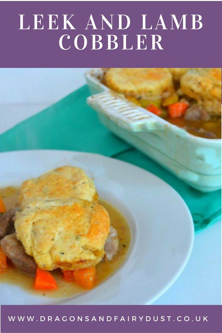 leek and lamb cobbler. A warming dish which uses seasonal meat and vegetables to make lovely filling dish