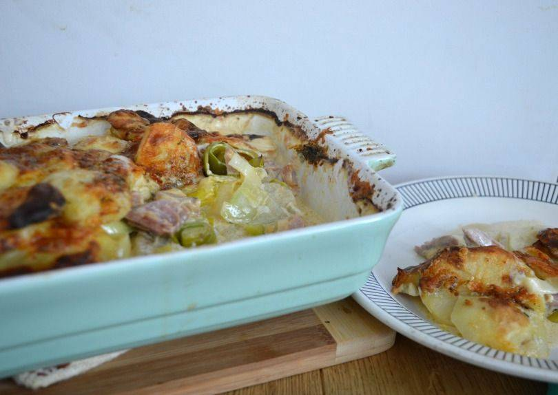 Potato and leek bake