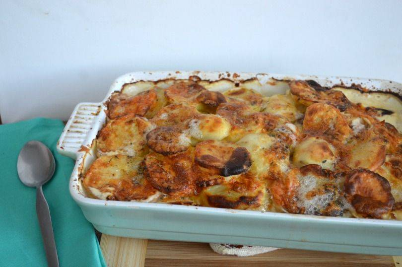 leek and potato bake