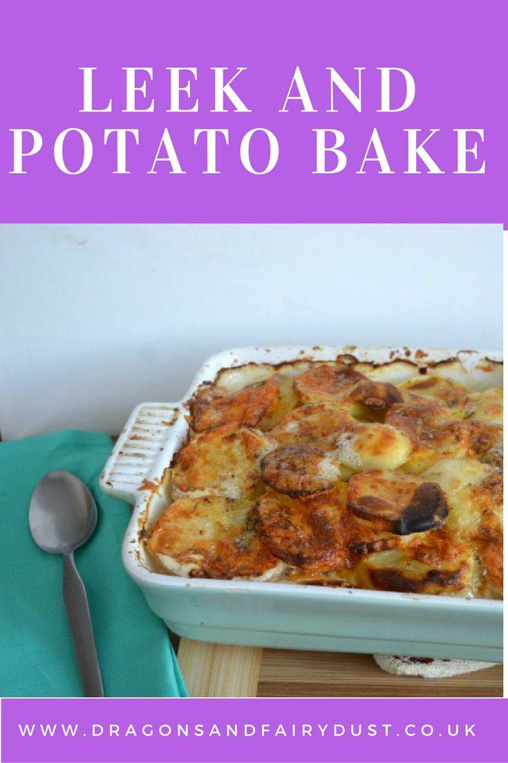 Leek and potato bake. A delicious and warming one pot meal