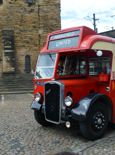 The bus we took our vintage bus tour of Newcastle in