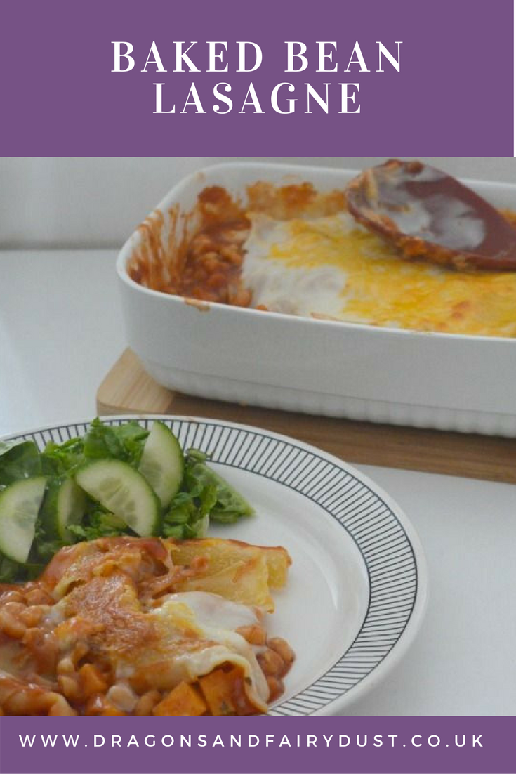 Baked bean lasagne. A tasty and declious meal that is low in calories