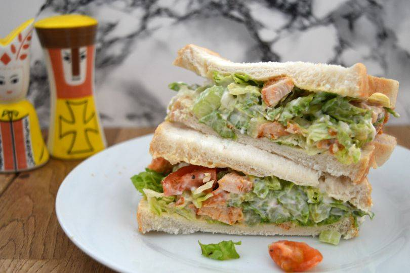 A chicken salad sandwich
