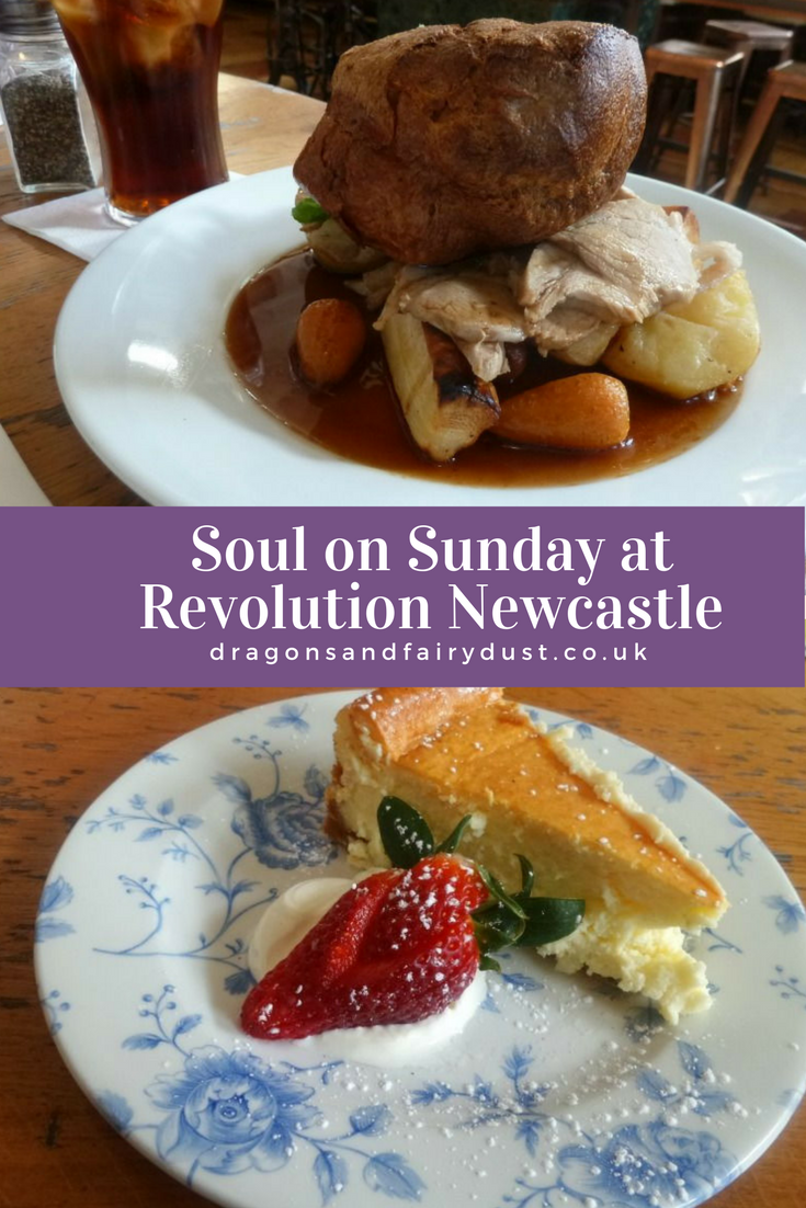 Soul on Sunday at Revolution, Newcastle. Sunday lunches served with soul music for a relaxing vibe