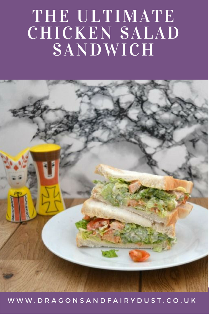 The ultimate chicken salad sandwich. Perfect for a tasty packed lunch or  a picnic