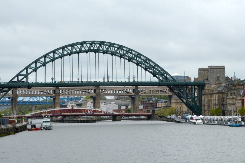 Newcastle's quayside and the Tyne Bridge