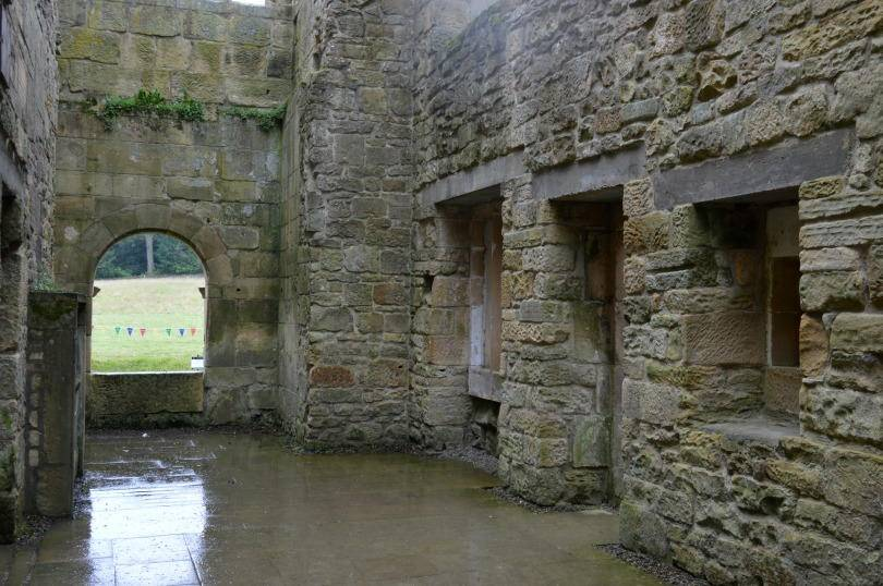 Inside Belsay castle