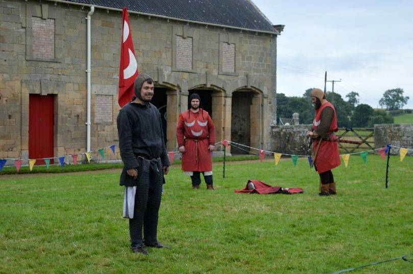 clash of the knights at belsay castle