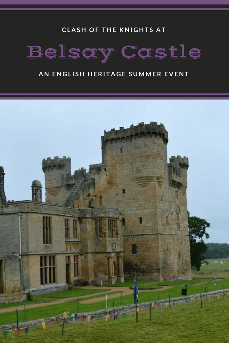 Clash of the knights as Belsay Castle, Hall and Gardens. An english heritage property in North East England