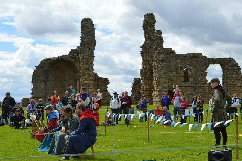 Knights tournament at Tynemouth priory