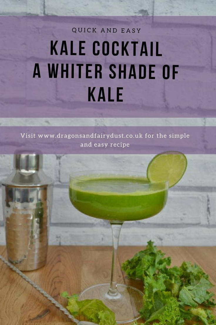 Kale Cocktail - a whiter shade of kale. A delicious cocktail with gin, apples, lime and kale juice