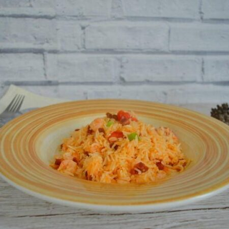 Prawn and chorizo rice
