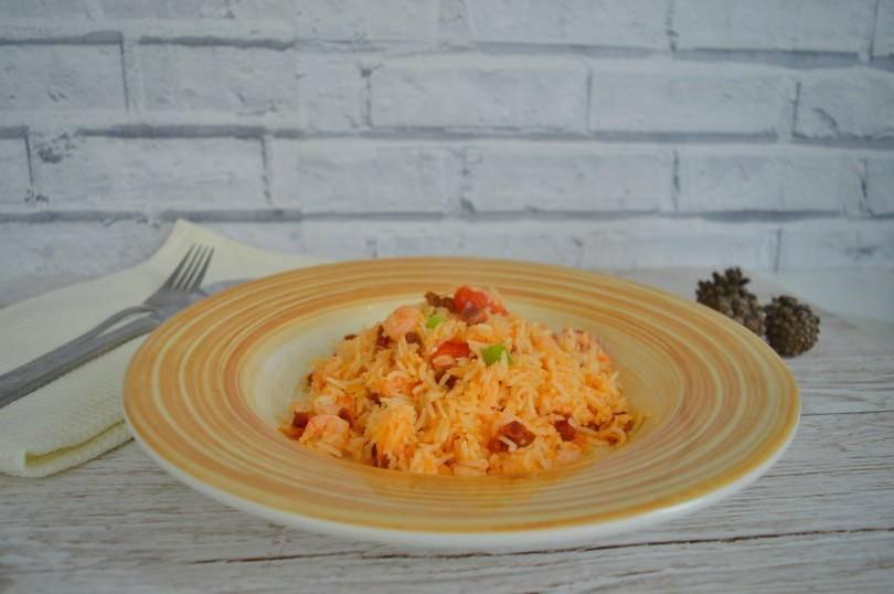 Prawn and chorizo rice