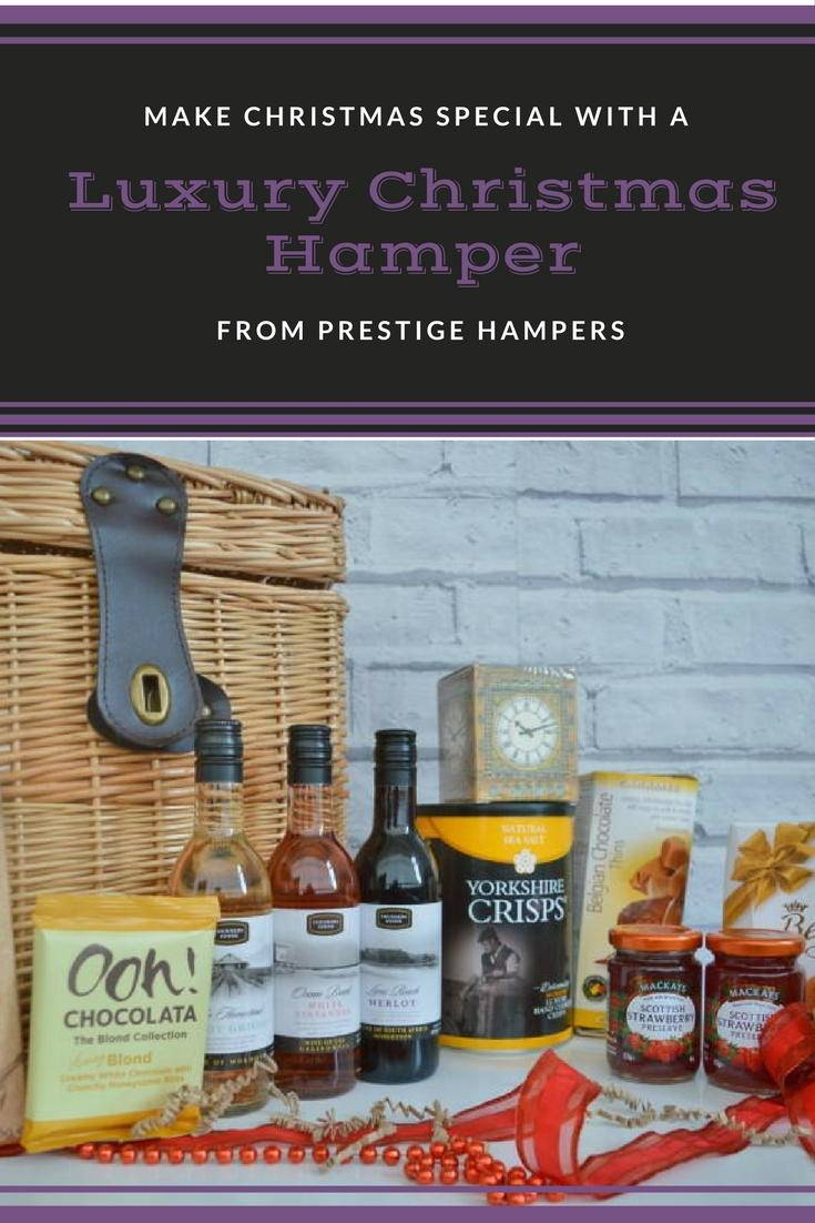 A luxury Christmas hamper for Prestige hampers. A great Christmas gift idea. See what is inside