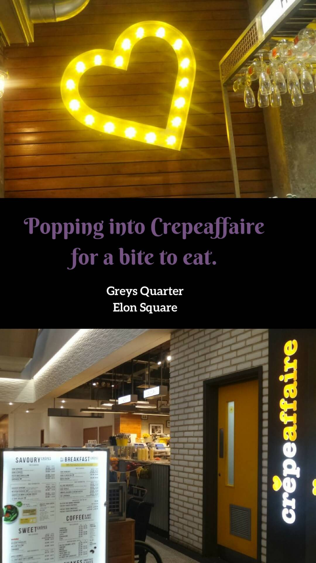 Popping into crepeaffaire Newcastle for a bite to eat. We enjoyed indulgent crepes and milkshakes
