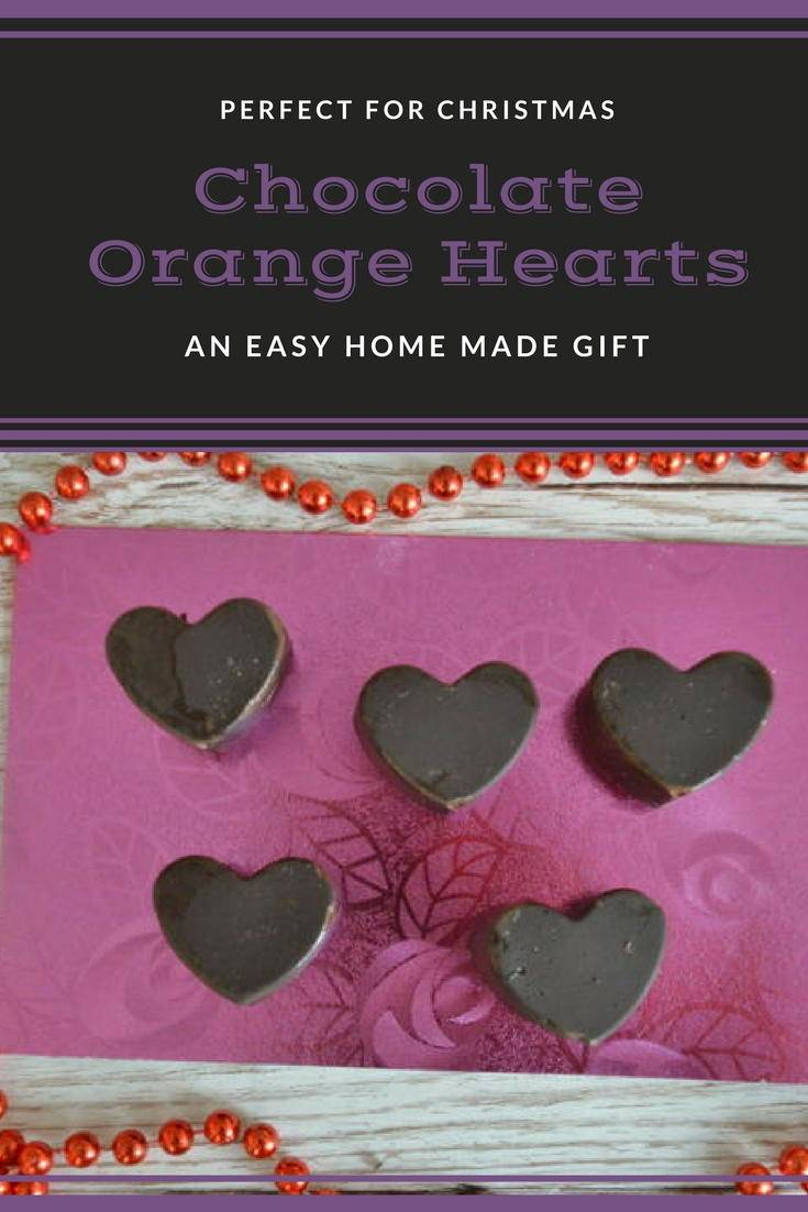 chocolate orange hearts. A simple home made gift you can make with kids for a loved one. Why not try the recipe?