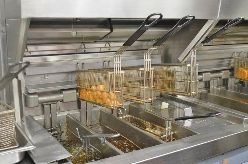Inside the kitchen at McDonald's