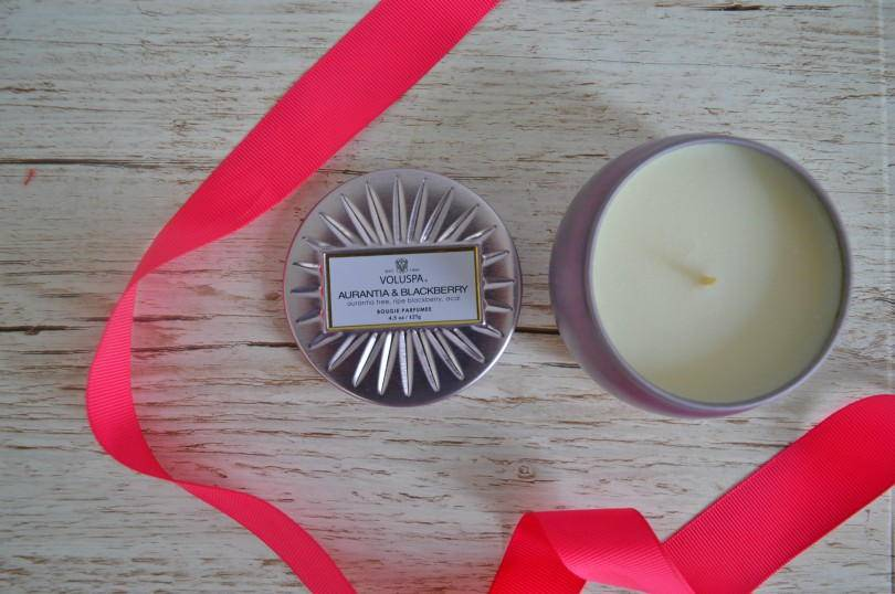 Voluspa scented candle in tin from Amara