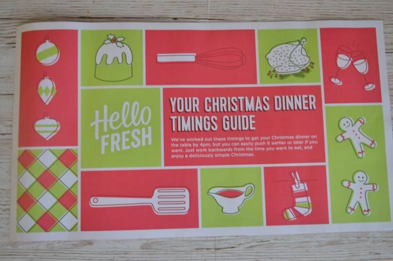 Hello Fresh Cheat sheet for Christmas