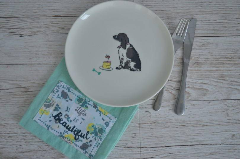 Spaniel tea plate by Joules from Amara
