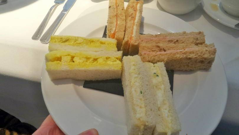 Sandwiches served for afternoon tea at the Vermont Hotel Newcastle