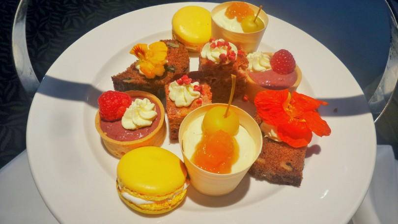 The cakes from afternoon tea at the Vermont Hotel