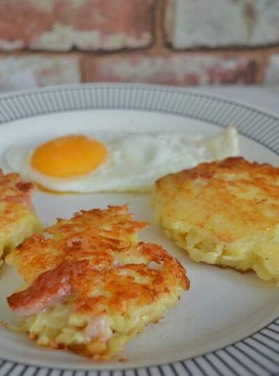 Canal or bacon floddies. A breakfast dish made from grated potatoes onions and bacon.