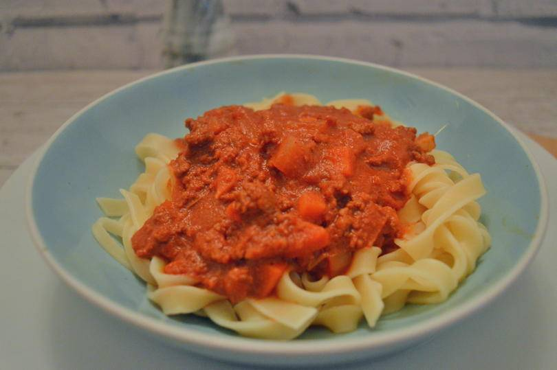 Tagliatelle with ragu sauce