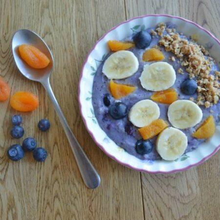 blueberry streusel porridge