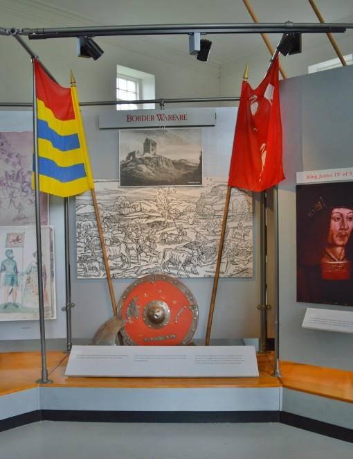 Inside Etal Castle Museum