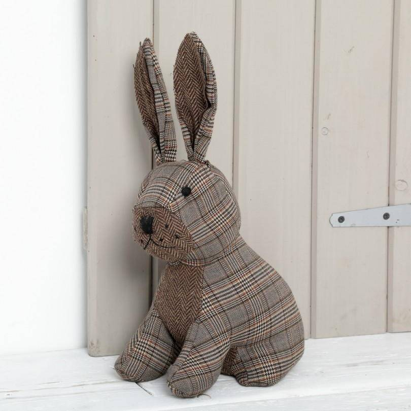Hare doorstop from cancer research uk