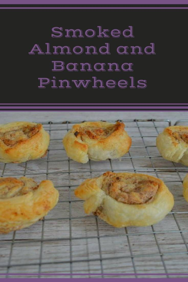 smoked almond and banana pinwheels. A great way to use up left over pastry