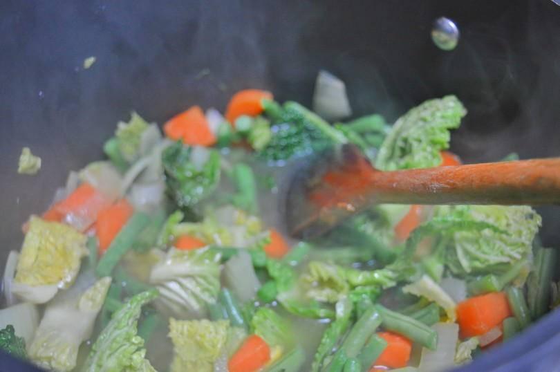 Making good friday soup