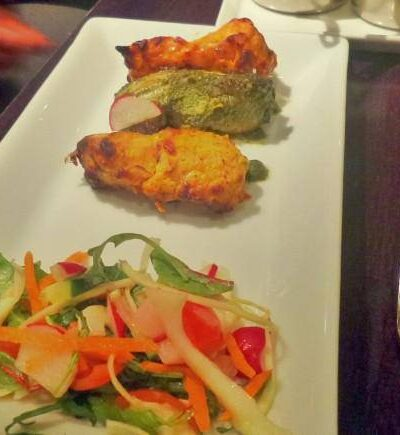 Chicken tikka three ways at Sachins
