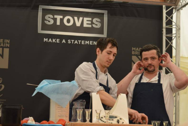Living North Live chef demonstration