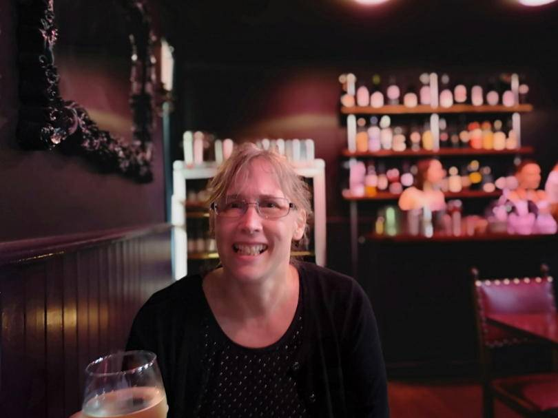 Emjoying drinks at Mr Petit Newcastle