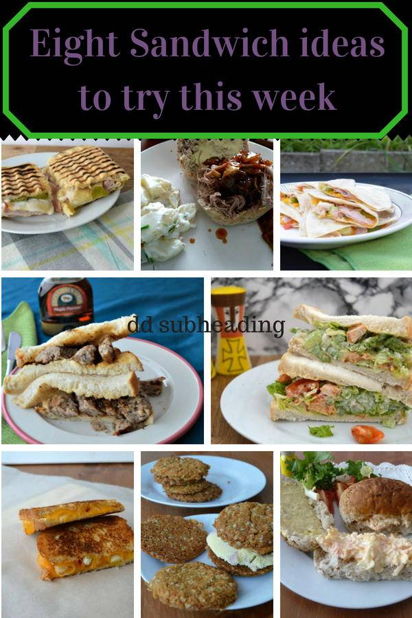 Eight sandwich ideas to try this week. Sandwich fillings to jazz up your lunchtime. Click though for the recipes